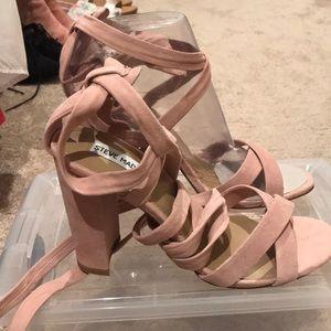 Steve Madden Christey size 10- blush lace up heels